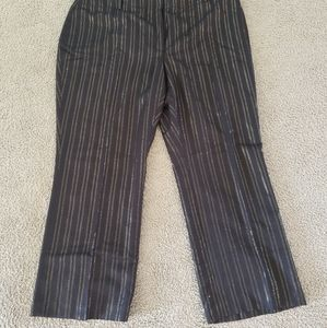 Apostrophe size 24W black and gold trouser